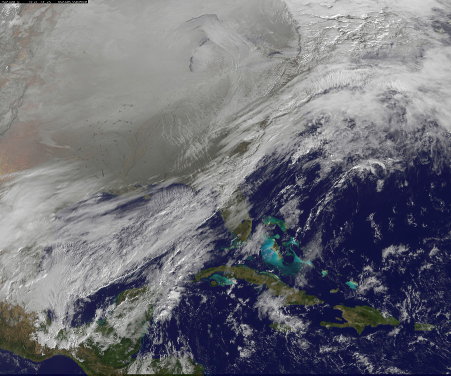 Polar Vortex Satellite View